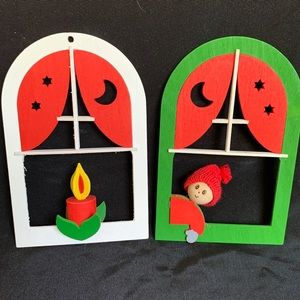 2 Vintage Christmas Ornaments Made in Finland